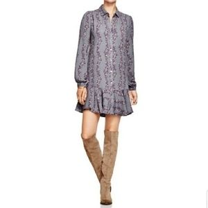 Free People NWT Floral Striped Button Down Dress